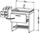 2F 6457.stock Vanity unit floor-standing
