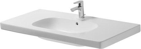 d code semi recessed washbasin 033955 duravit. Black Bedroom Furniture Sets. Home Design Ideas