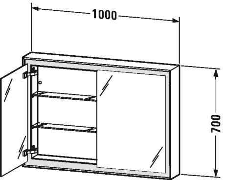 L Cube Mirror Cabinet Lc7552 Duravit