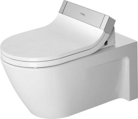 Starck 2 Toilet wall mounted for SensoWash® #253359   Duravit