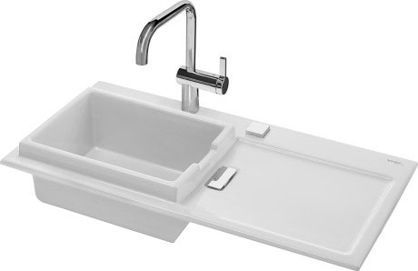 Starck K Kitchen sink flush mounted Starck K 60 L