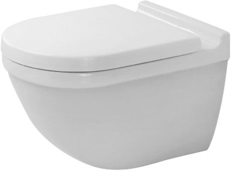 starck 3 toilet wall mounted 222509 duravit. Black Bedroom Furniture Sets. Home Design Ideas