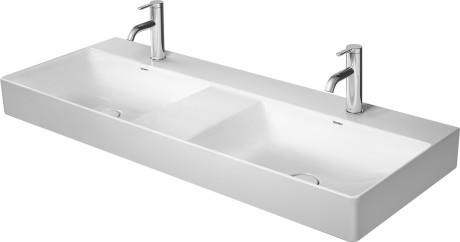 DuraSquare Double washbasin, double