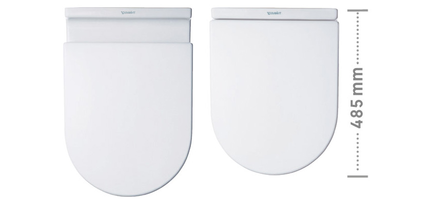 Me By Starck Toilet Wall Mounted Compact Duravit Rimless