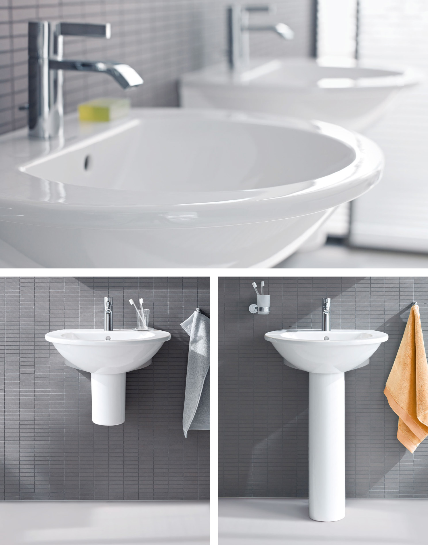Duravit Collection. Darling_new_washbasins_collage_02