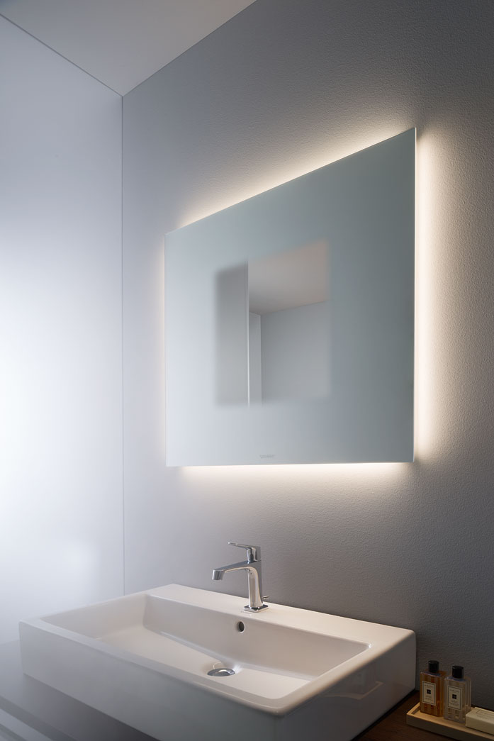 Light and mirror design bathroom mirrors duravit - Contemporary bathroom light fixtures install ...