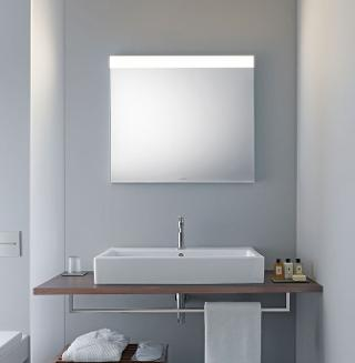 Light and mirror design bathroom mirrors duravit in this version a light field on the top edge of the mirror provides direct illumination aloadofball