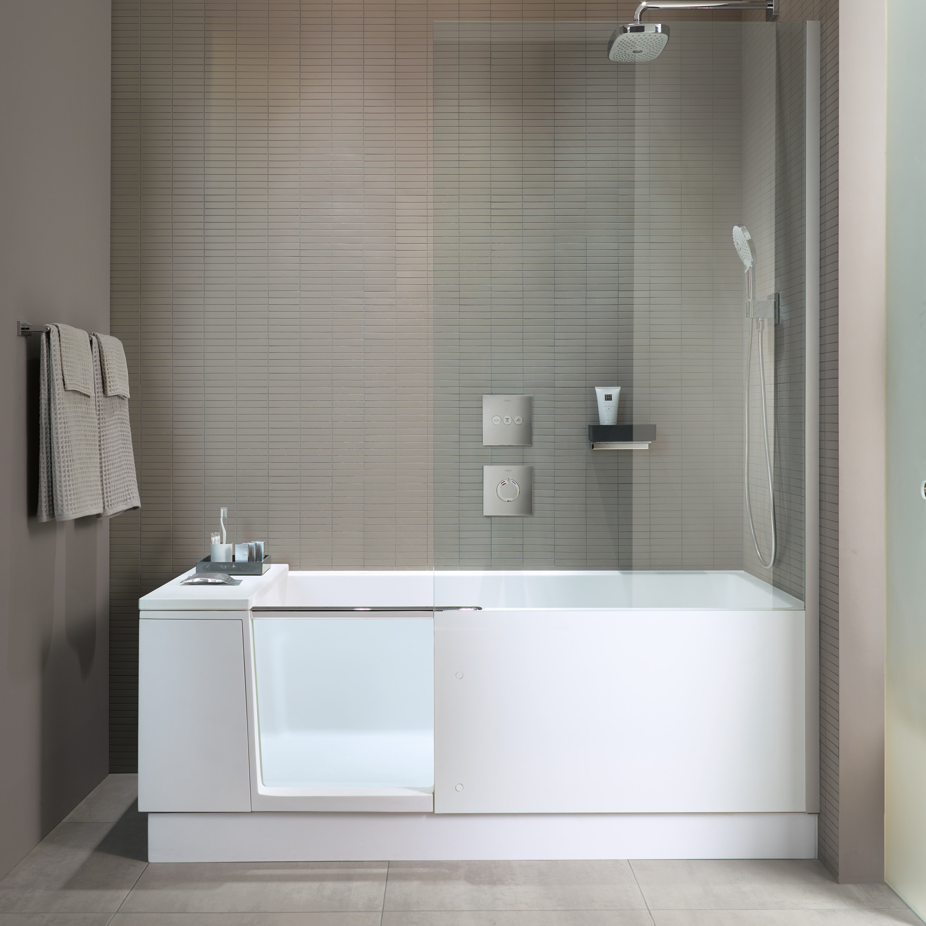 Shower bath duravit for Walk in shower plans and specs