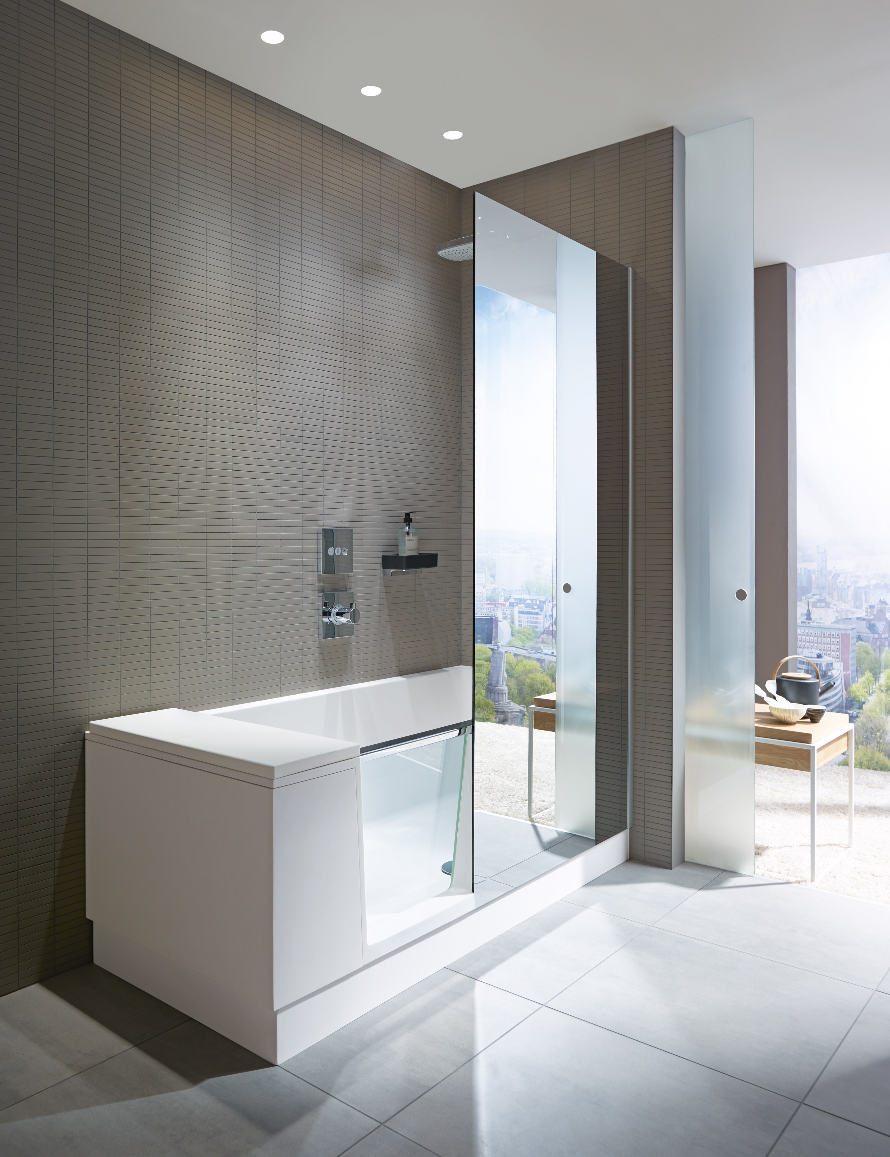 shower bath duravit. Black Bedroom Furniture Sets. Home Design Ideas